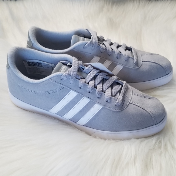 NWT Gray & white Adidas neo comfort footbed shoes